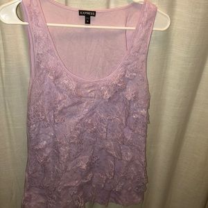 Lavender lace tank top